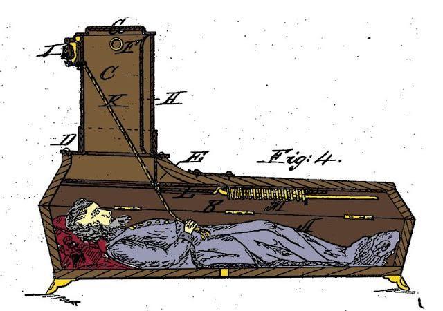 6  modèles de cercueils du 19e siècle pour survivre en cas de mort apparente
