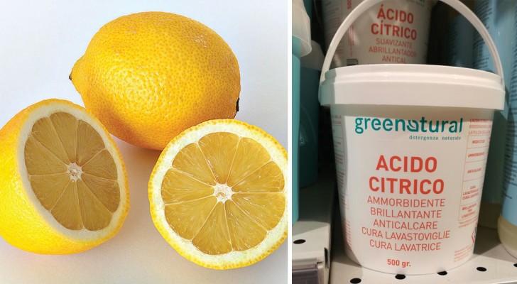 Acido citrico: una sostanza naturale per rimpiazzare praticamente tutti i prodotti per le pulizie