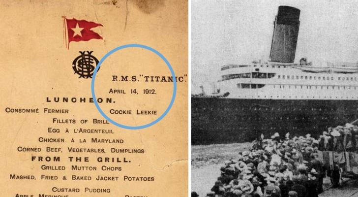 Dalla 1a alla 3a classe: ecco i menù (Classisti) degli ultimi pasti serviti a bordo del Titanic