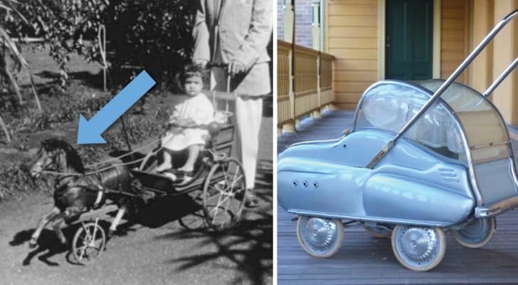 Kinderwagens van vroeger zijn zo raar dat je je lach moet inhouden