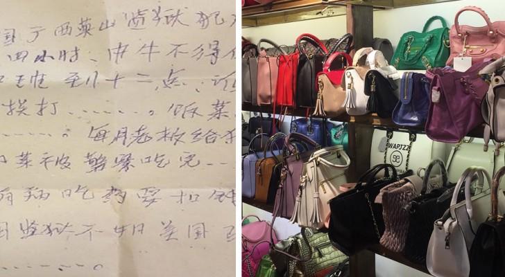 Une femme trouve un message caché dans son nouveau sac: l'appel au secours est alarmant
