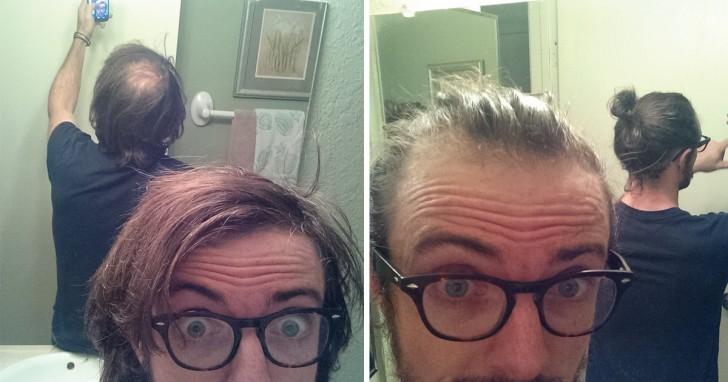 Les hommes chauves ont recours à cette astuce pour cacher le problème avec d'excellents résultats