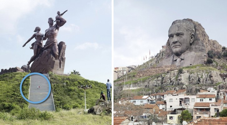 Deze standbeelden zijn gigantisch maar zijn ook houders van een ander record: niemand kent ze namelijk