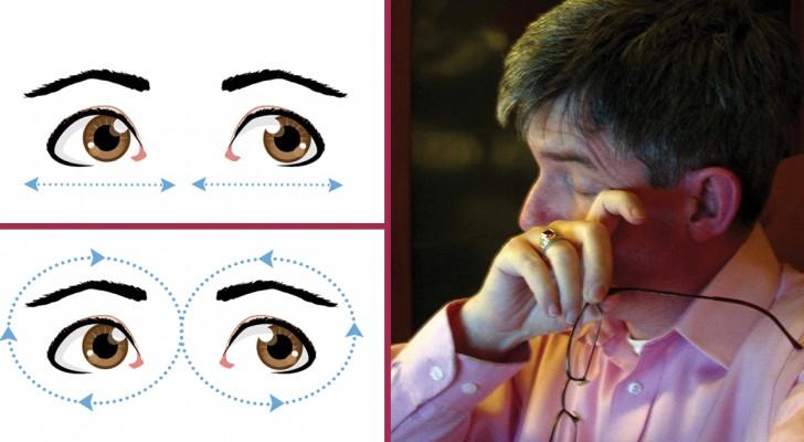 10 pratici esercizi per dare sollievo agli occhi e migliorare la vista