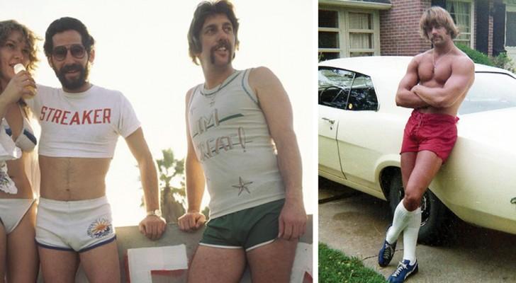 Ces photos d'hommes en shorts nous montrent une mode des années 70 que nous avions oublié