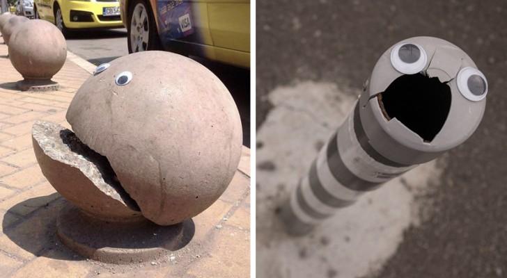 Quelqu'un a collé de faux yeux sur des objets cassés... et c'est presque mieux que de les réparer