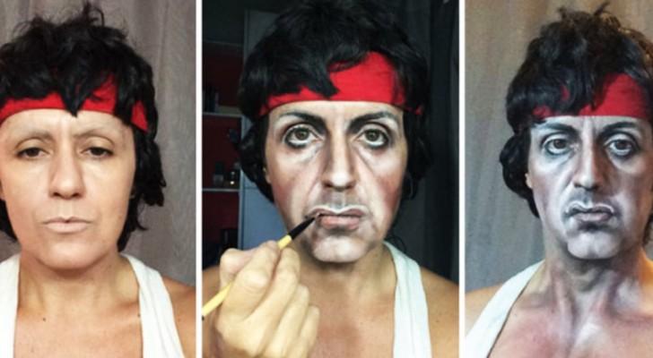 Elle se transforme en des centaines de personnes célèbres SEULEMENT grâce à la maîtrise de maquillage
