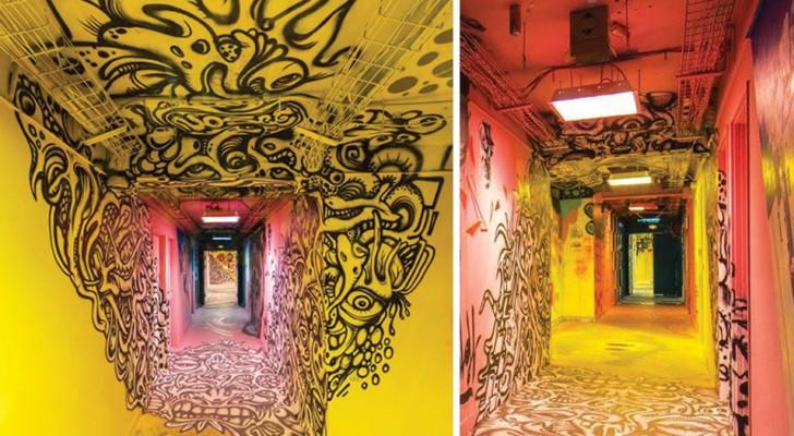 100 straatkunstenaars werd gevraagd om de school opnieuw te beschilderen vooraf aan de renovatie: het resultaat kent zijn evenknie niet
