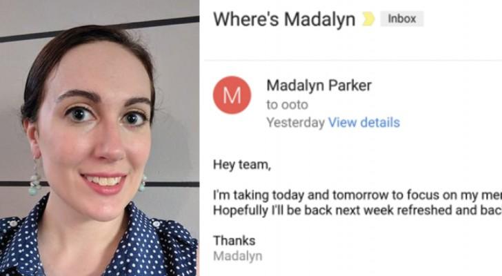 Cette femme s'est mise en arrêt maladie pour soigner sa santé mentale: la réponse de son patron devient virale