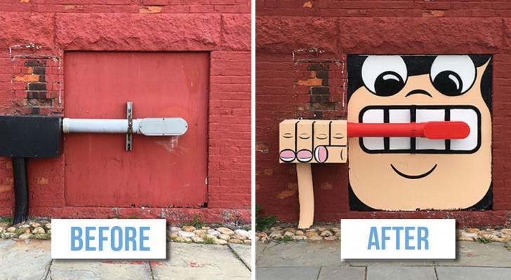 Un artiste de rue ABSOLUMENT GENIAL déambule dans les rues de New York ... espérons que personne ne l'arrêtera !