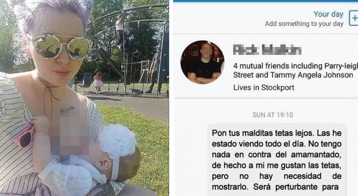 Un homme l'insulte pour avoir publié une photo d'elle en train d'allaiter: la réponse de la maman est cinglante