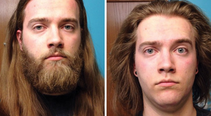 16 Männer vor und nach der Rasur. Kaum wieder zu erkennen!