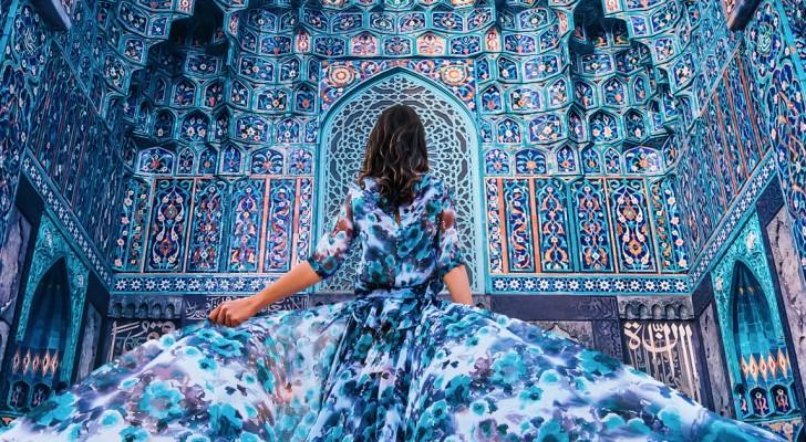 Ik ging de wereld over om vrouwen te fotograferen in elegante kleding met de allermooiste locaties als achtergrond