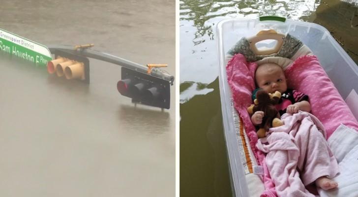 De buitengewone verwoesting door de storm Harvey in 17 foto's