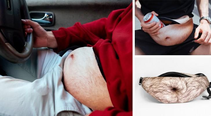 Crea il marsupio a forma di pancia da alcolizzato: la sua invenzione spopola sul web