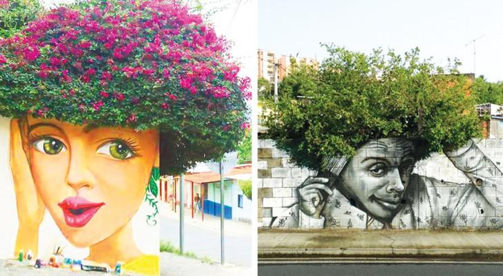La Street Art si fonde con la Natura: 19 magnifici esempi di come un graffito può trasformare la città