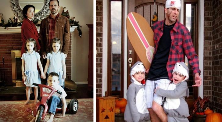 19 gezinnen waarin ze allemaal geniaal verkleed gingen met Halloween