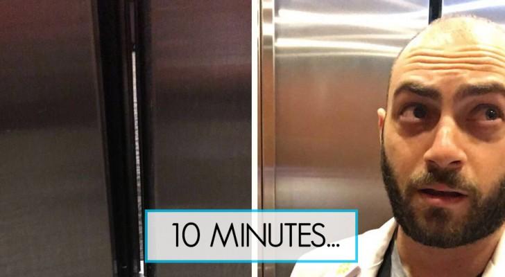 Bloqué dans l'ascenseur le 1er jour de pratique médicale: l'histoire de cet étudiant fait rire tout le monde