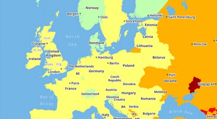 Diese Karten der gefährlichsten Länder der Welt im Jahr 2018 könnten eure Reisepläne ändern