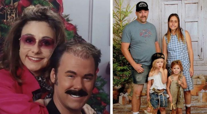 Questa famiglia spedisce da 15 anni le cartoline di Natale più assurde e divertenti
