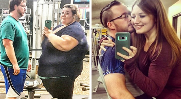 Perdono 180kg in due e si scattano le stesse foto dopo 1 anno: stenterete a credere che sia la stessa coppia
