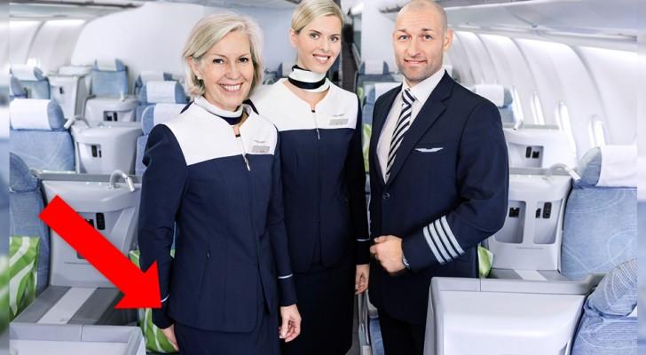 warum begrüßen Flugbegleiter die Gäste mit den Händen hinter dem Rücken?