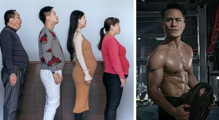 Een hele familie heeft 6 maanden lang getraind: de voor- en na- foto's laten je sprakeloos