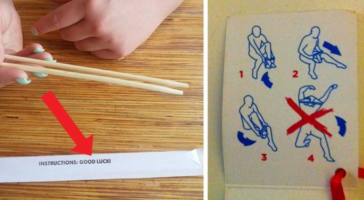 16 etichette e istruzioni d'uso tra le più esilaranti che siano mai state create