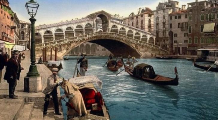Queste cartoline a colori mostrano tutta la bellezza di Venezia alla fine dell'800