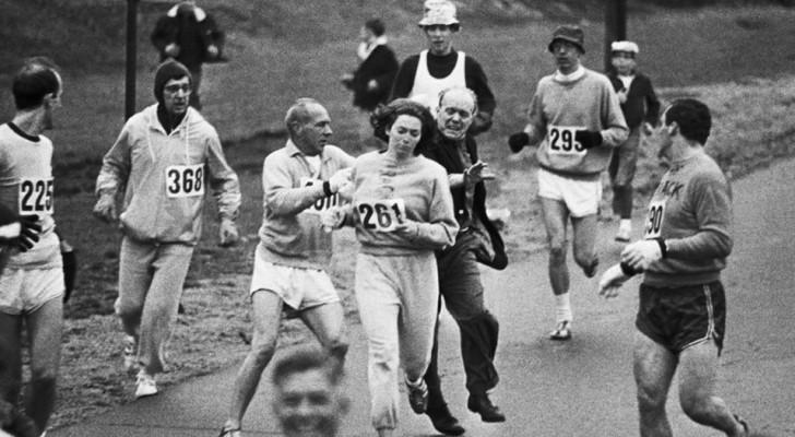 Une femme est prise à partie pendant le marathon de Boston en 1967: voici la règle qu'elle avait enfreinte