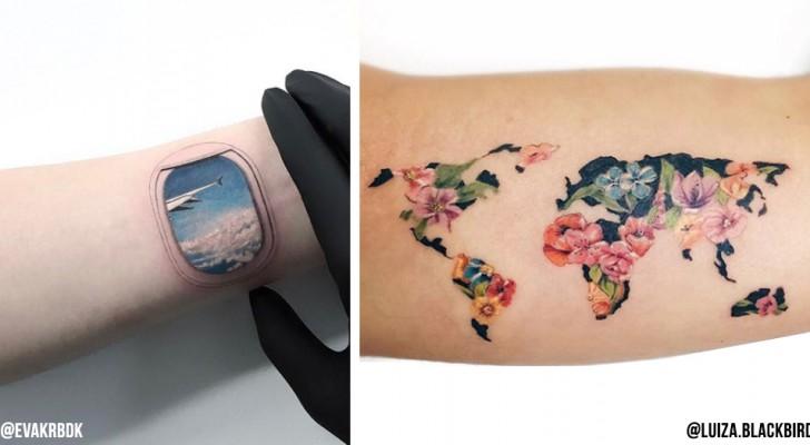 20 Tattooideen für Menschen, die gerne Reisen