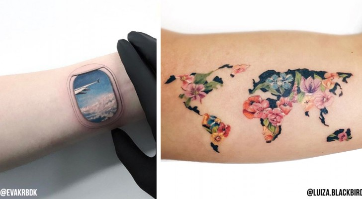 20 tattoo-ideeën die mensen die van reizen houden niet mogen missen