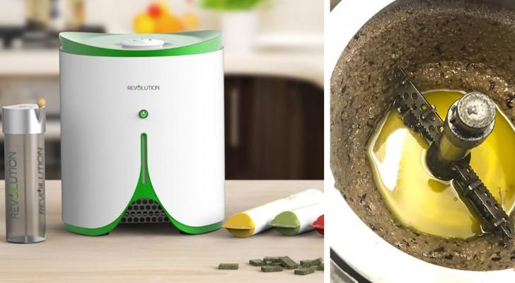 Un'azienda italiana crea il primo mini frantoio da casa, per avere olio fresco ogni volta che vuoi