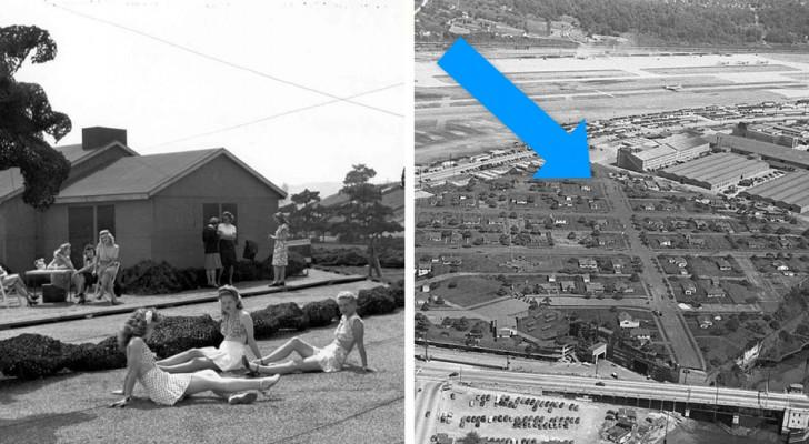 12 images rares du faux quartier construit aux États-Unis pour cacher une usine militaire à l'ennemi