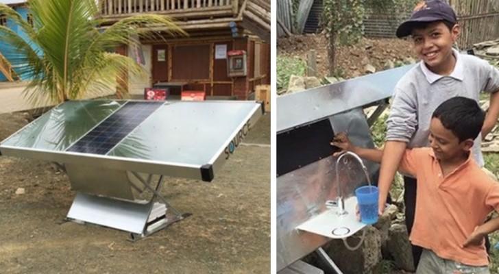 Una start-up realizza un pannello solare che riesce a creare acqua potabile dall'aria