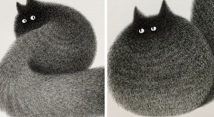 Ein malaischer Künstler nutzt nur Bleistifte um diese flauschigen Katzen zu zeichnen. Das Resultat ist unglaublich