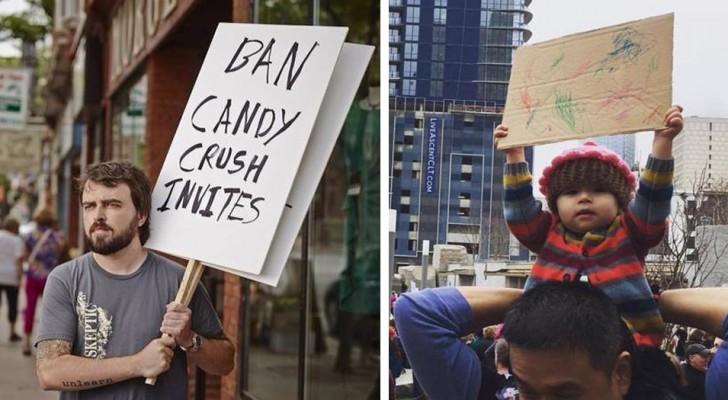 Een paar van de leukste en geniaalste protestborden ooit gezien bij een demonstratie