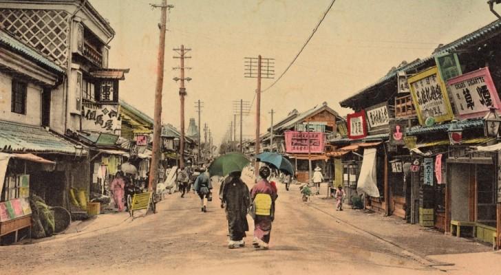 14 cartes postales colorées d'il y a 100 ans nous montrent le Japon d'avant la guerre, dans toute sa splendeur