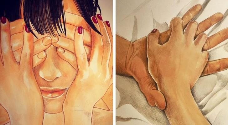 Diese italienische Illustratorin zeigt die ganze Schönheit des Körperkontakts