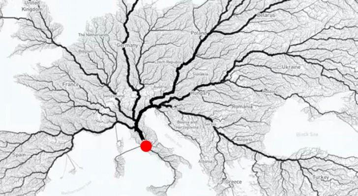 Leiden alle wegen naar Rome? Deze uitgewerkte kaart laat zien of het gezegde strookt met de realiteit