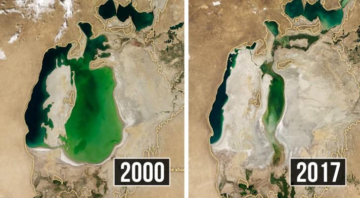 Deze satellietbeelden laten zien hoe snel de mens de aarde kapotmaakt
