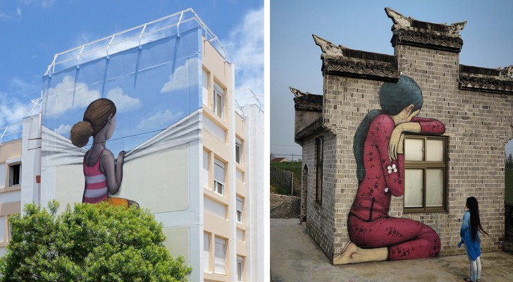 Cet artiste français transforme des bâtiments anonymes en gigantesques œuvres d'art dispersées dans le monde entier