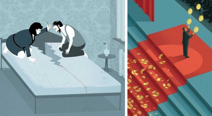 16 illustraties die je een harde maar eerlijke kijk geven op de maatschappij