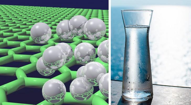 Er is een filter ontwikkeld van grafeen dat zeewater kan ontzilten en dit drinkbaar kan maken