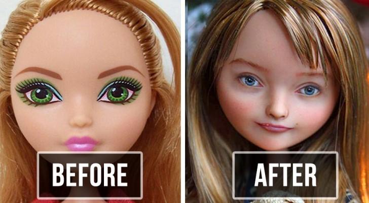 Cet artiste ukrainien enlève le maquillage des poupées et redessine les visages : l'effet final est incroyablement réel