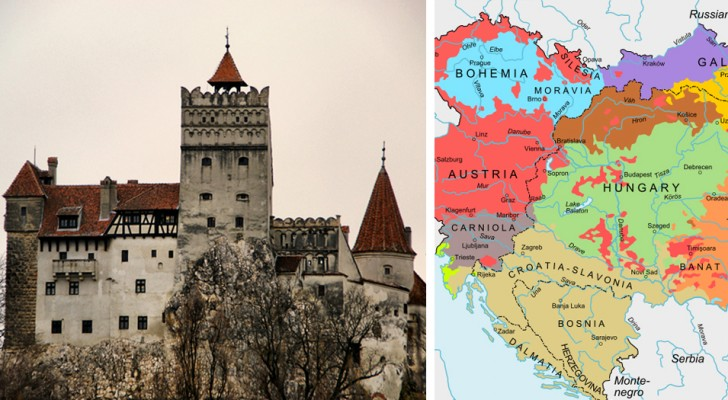 Un viaggiatore visita la Transilvania usando