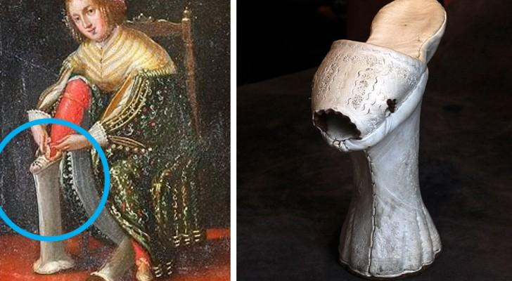 Chopines, de plateauzolen uit de 15e eeuw die wel 50 centimeter hoog konden worden