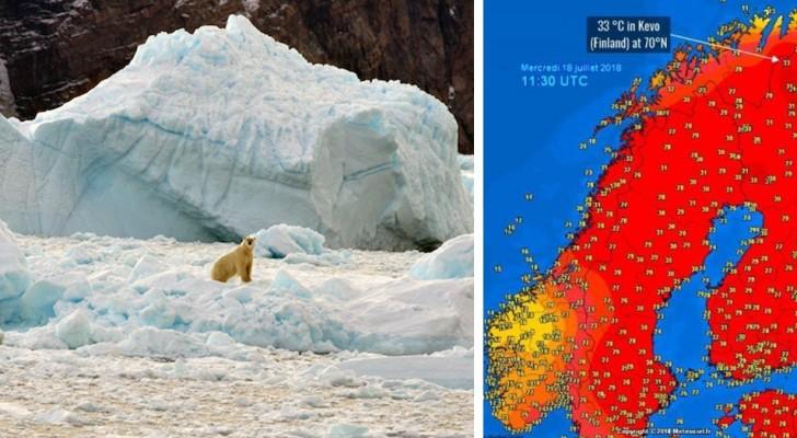 Températures record dans le cercle polaire arctique : la fonte des glaces est à un point de non retour