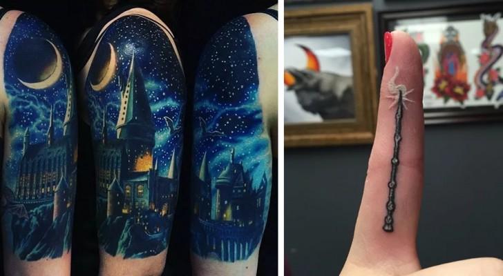 33 betoverend mooie tatoeages waar elke fan van Harry Potter wel dol op moet zijn
