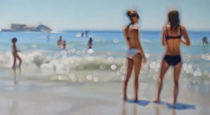 Wat mensen die bijziend zijn zonder bril zien wordt door deze kunstenaar uitgebeeld in 10 ongelofelijke olieverfschilderijen